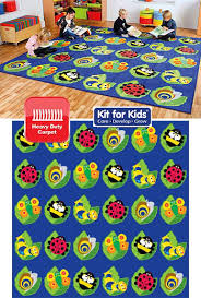back to nature square bug placement rug 3m x 3m