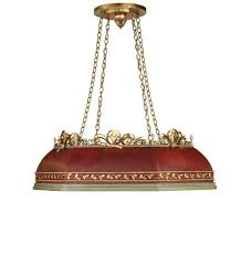 currey company ruth chandelier winterthur collection in hand painted red green and gold leaf