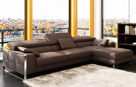 Modern Leather Sectional Sofa Flavio Leather Sectionals