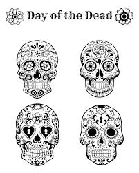 The Day Of The Dead Coloring Pages Day Of The Dead Skull Coloring