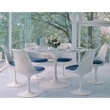 cdt120a avec tulip oval dining table eero saarinen replica marble top aluminium 2 1 et saarinen