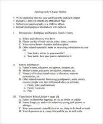Autobiography Outline Format Ohye Mcpgroup Co