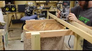making a table from a tree stump