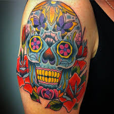 40 Eye Catching Day Of The Dead Tattoos Faces Skulls Girls