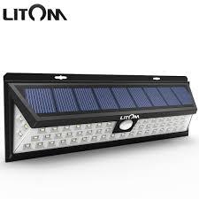 Us 425 Litom 54 Led Solar Lamp Met Bewegingssensor Waterdichte Groothoek Zonne Nachtverlichting Draadloze Buiten Muur Activated Dek Licht In Litom
