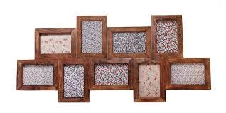 large wooden collage photo frames nine multi photo frame dark wood effect wooden photo frames multiple