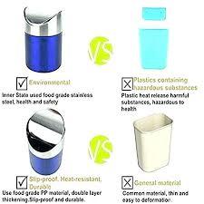 countertop garbage can trash can stainless steel mini trash bin car dust bin trash can waste countertop garbage can