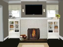 Gray Brick Fireplace Red Brick Fireplace Gray Walls Fireplacefireplace