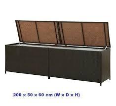 extra large garden storage box rattan