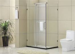 simple square frosted pivot shower door clear glass shower door enclosures