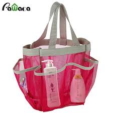 2019 portable quick dry shower caddy tote bag hanging toiletry mesh bag with 7 pocket bathrooms organizer for dorm gym camp travel from narciss