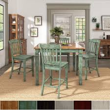 elena extendable counter height dining set with slat back chairs by inspire q clic