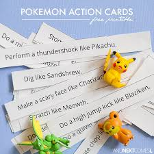 Printable Pokemon Cards Free Printable Pokemon Action Cards And Next Comes L