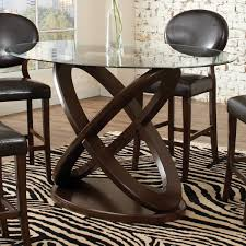 modern counter height glass dining table and chair set