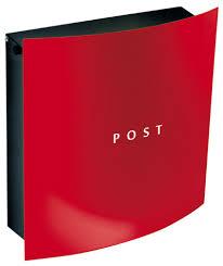 modern wall mount mailbox. Knobloch Hollywood Red Locking Wall Mount Mailbox Modern