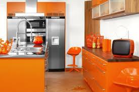colorful kitchen design. 1)Orange Colorful Kitchen Design O
