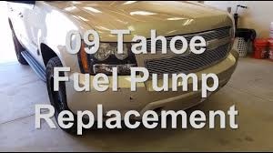2009 tahoe fuel pump replacement - YouTube