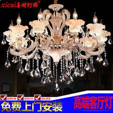 get ations zinc alloy european chandelier crystal lamp modern living room lamps bowlder bedroom room lights restaurant candle
