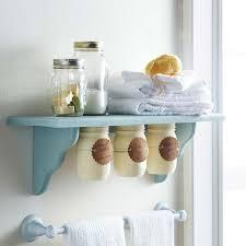 bathroom decorating ideas diy. DIY Bathroom Decor Ideas For Teens - Under Shelf Mason Jar Storage Best Creative, Decorating Diy Projects
