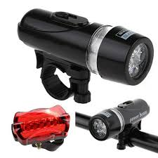 Waterproof Bike Bicycle Head Light + Tail <b>Rear</b> Safety light | Shopee ...