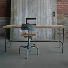 industrial office desk. Reclaimed Desk   Modern Wood Office Industrial Tables Industry T