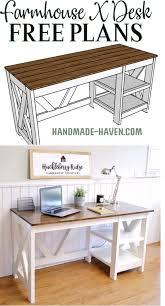 office furniture plans. Farmhouse X Desk Office Furniture Plans