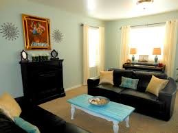 Black Lather Long Couches With Chic Table And Fireplace For Living Room  Decoration Ideas