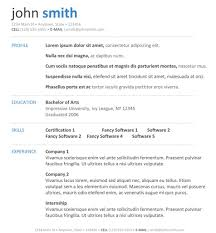 Free Resume Templates 85 Appealing Professional Template Job