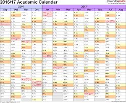 academic calendars as printable word templates template 1 academic calendar 2016 17 for word landscape orientation months horizontally