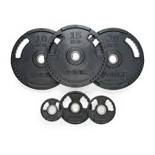 york plates. york barbell g2 rubber thin line olympic plates l