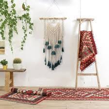 h d macrame wall hanging tapestry wall art decoration wall mandala tapestry boho home decor woven wall hanging decor wind chimes hanging decorations