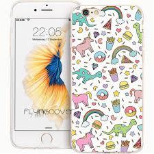 6 diy rainbow phone case capa unicorn rainbow donut clear soft tpu silicone phone cover for