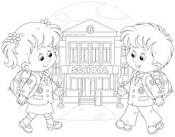 Small Picture Back to School Coloring Pages School colors School and Adult