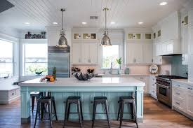 beach style telescopes kitchen beach style with white crown molding l listed pendant lights