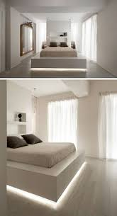 lighting rooms. 9 bedrooms with beds that feature hidden lighting a strip of led lights under rooms
