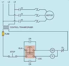 industrial motor control symbols and schematic diagrams 14 run jog circuit using a push pull button