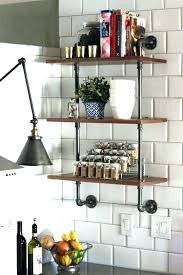 kitchen wall shelf ideas ideas of using open kitchen wall shelves wood and plumbing pipe ideas of using open kitchen kitchen wood shelf images kitchen