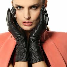 women s lambskin touchscreen texting leather gloves winter lined long sleeves