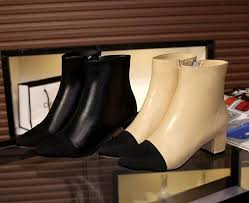 u633 34 40 genuine leather cap toe heel short boots beige black vogue fashion choices rain boots mens shoes from runningshoes21 109 9 dhgate com