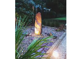 slate monolith water features natural