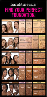Bare Minerals Foundation Shades Chart Bareminerals Find Your Perfect Foundation Feelunique Com