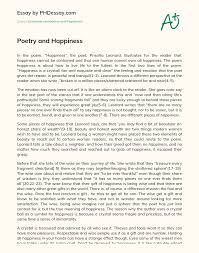 Poetry and Happiness - PHDessay.com