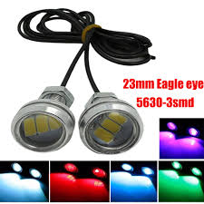 Diy Running Lights Us 54 89 45 Off Ysy 50pcs White Eagle Eye Led Car Light Daytime Running Lights Drl Motorcycle Diy Ultra Thin Source Warning Lamps 23mm 5630 3smd In