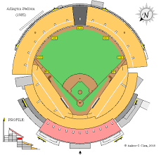 Ballpark At Arlington Seating Chart Clems Baseball Arlington Stadium