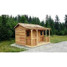 cedarshed ranchhouse storage shed 12 x