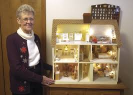 dollhouse lighting. Joyce Taylor Has Lost Count Of Just How Many Dollhouses She In Her Home Outside Fayette. Calls This One \u201cCadillac House\u201d Because The Dollhouse Lighting V