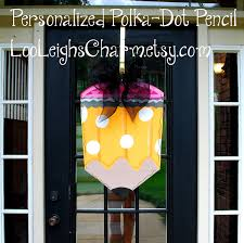 Decorative Door Hangers Pencil Door Hanger Classroom Door Hanger Teacher
