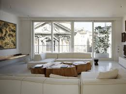 View in gallery white shades define luxurious multistory milan apartment 2  living room thumb 630x470 18148 White Shades Define