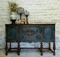 painted furniture ideas. Vintage Furniture Ideas. Black Painted Ideas Shocking Oak Buffet Perfect Charcoal Blend Chalk ,
