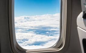 airplane window. Interesting Window Airplane Window With Clouds And Blue Sky Throughout Window L